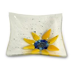 Webstore clear 5x5 sunflower dish