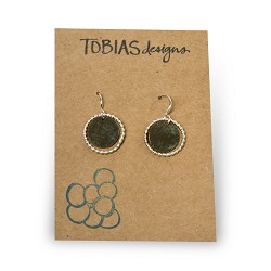 #37 - silver ringed circle earrings