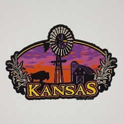 KS Sunset Windwill Magnet