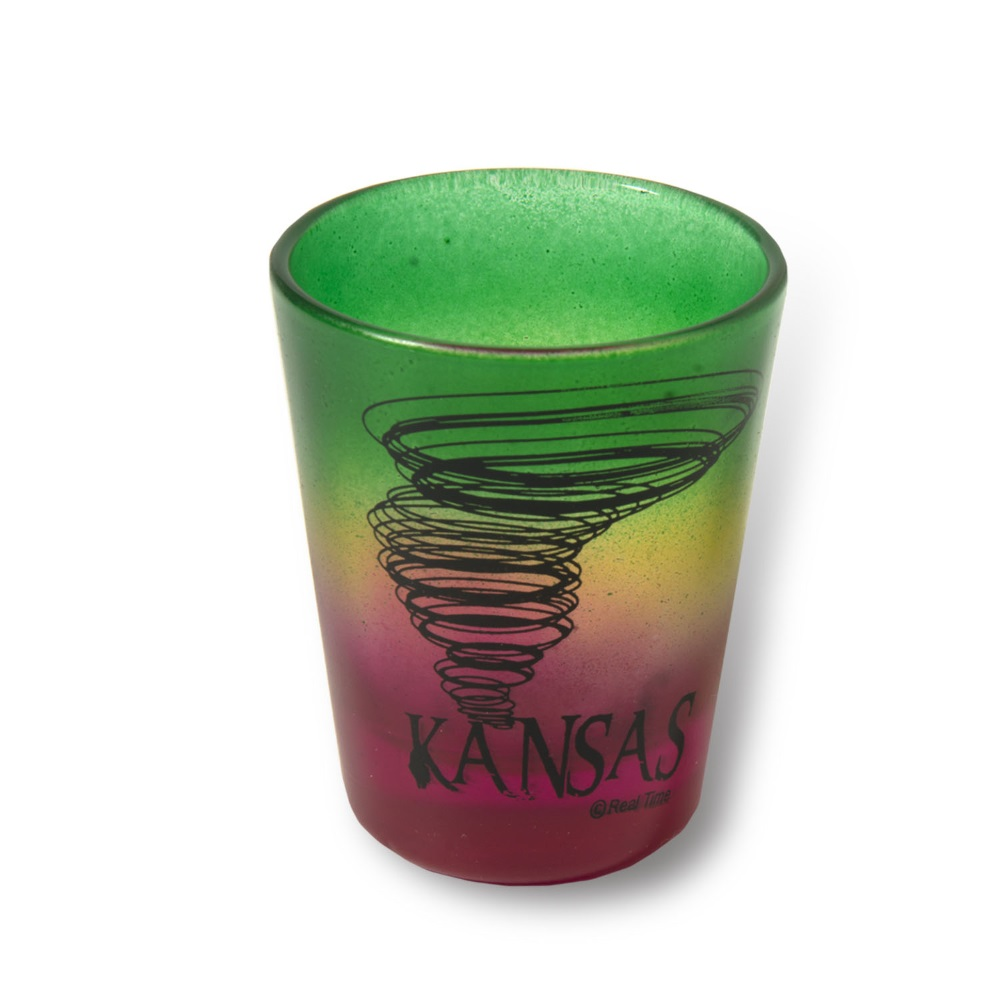 KS 3-Tone Frosted Shot Glass,X1067KS