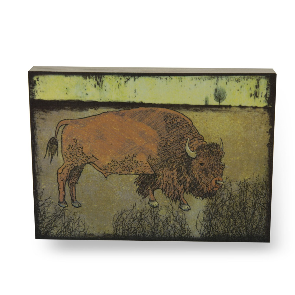 Grunge Bison (Small, Natural Sides),1182SNAT