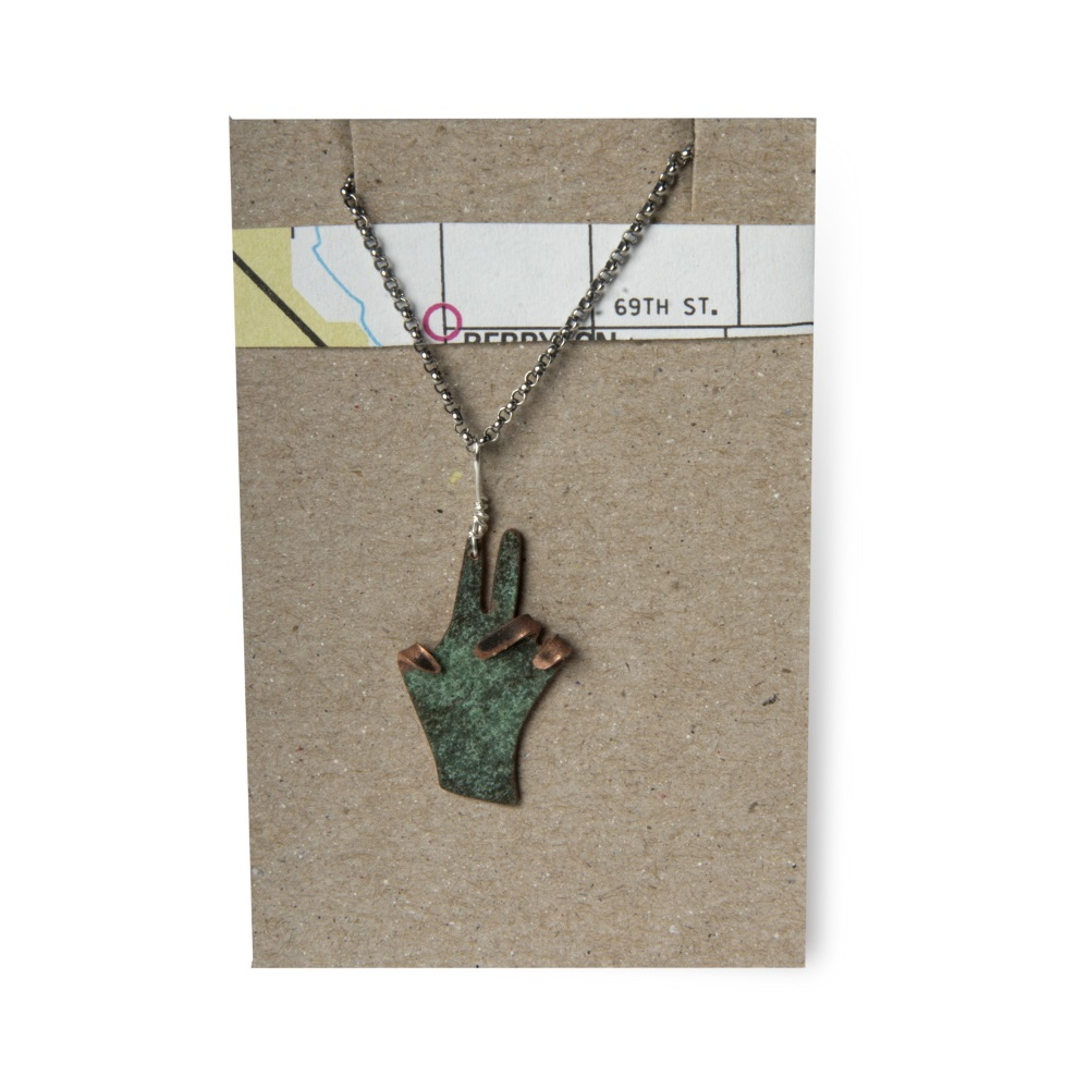 Peace Hand Necklace,PEACE HAND