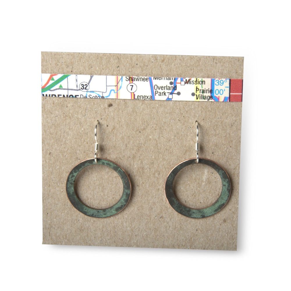 Circle Outline Earrings,CIRCLE OUTLINE EARRI