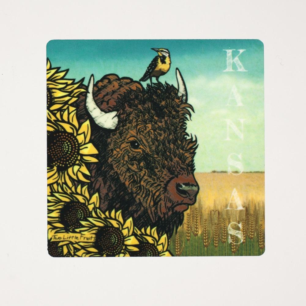 Kansas Bison Magnet