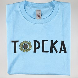 Topeka Sunflower T-Shirt Blue Y - Small