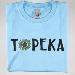 Topeka Sunflower T-Shirt Blue Y - XLarge