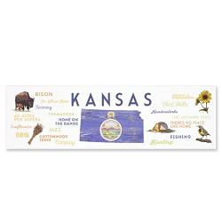 Kansas Typography & Icons Bookmark
