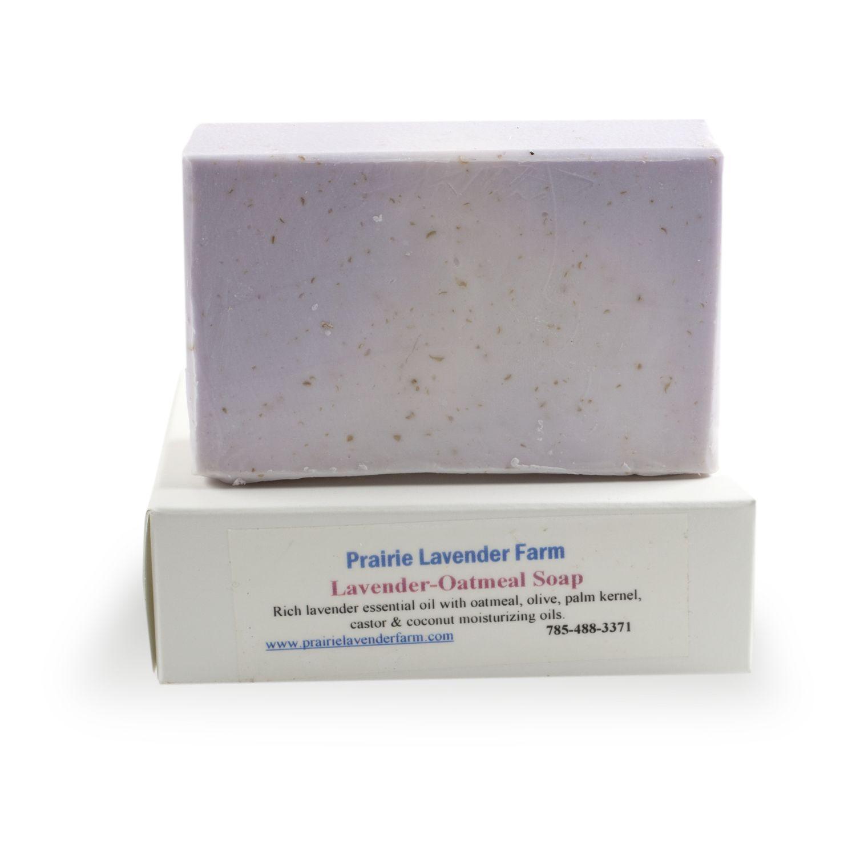 Handmade Castile Lavender-Oatmeal Soap