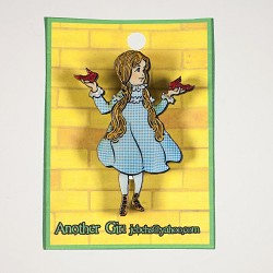 Dorothy and Red Shoes Pin