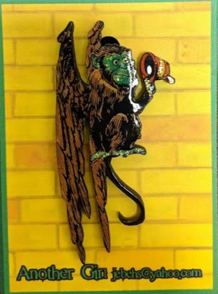 Flying Monkey Pin: Brown