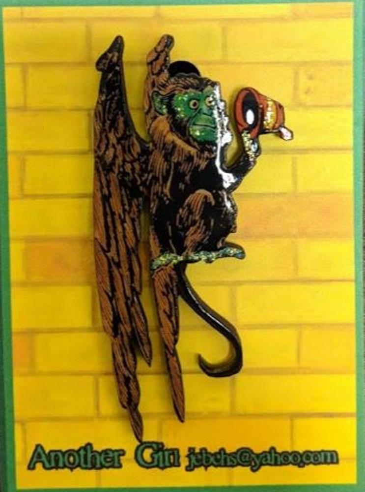 Flying Monkey Pin: Brown