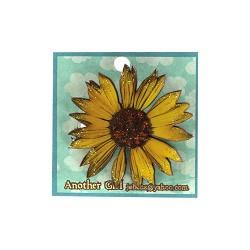 Sunflower Pin w/ Glitter