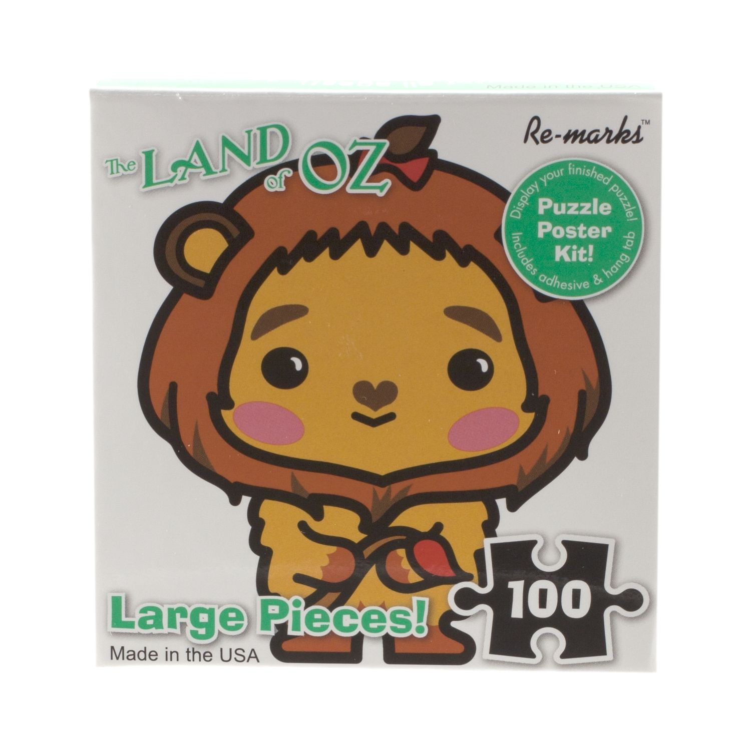 Cowardly Lion Cube 100 Piece Puzzle,19184