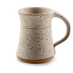 Plain Mug White Speckled 10 oz