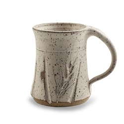 Wheat Mug White Speckled 10 oz