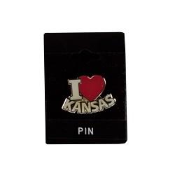 I Heart Kansas Pin