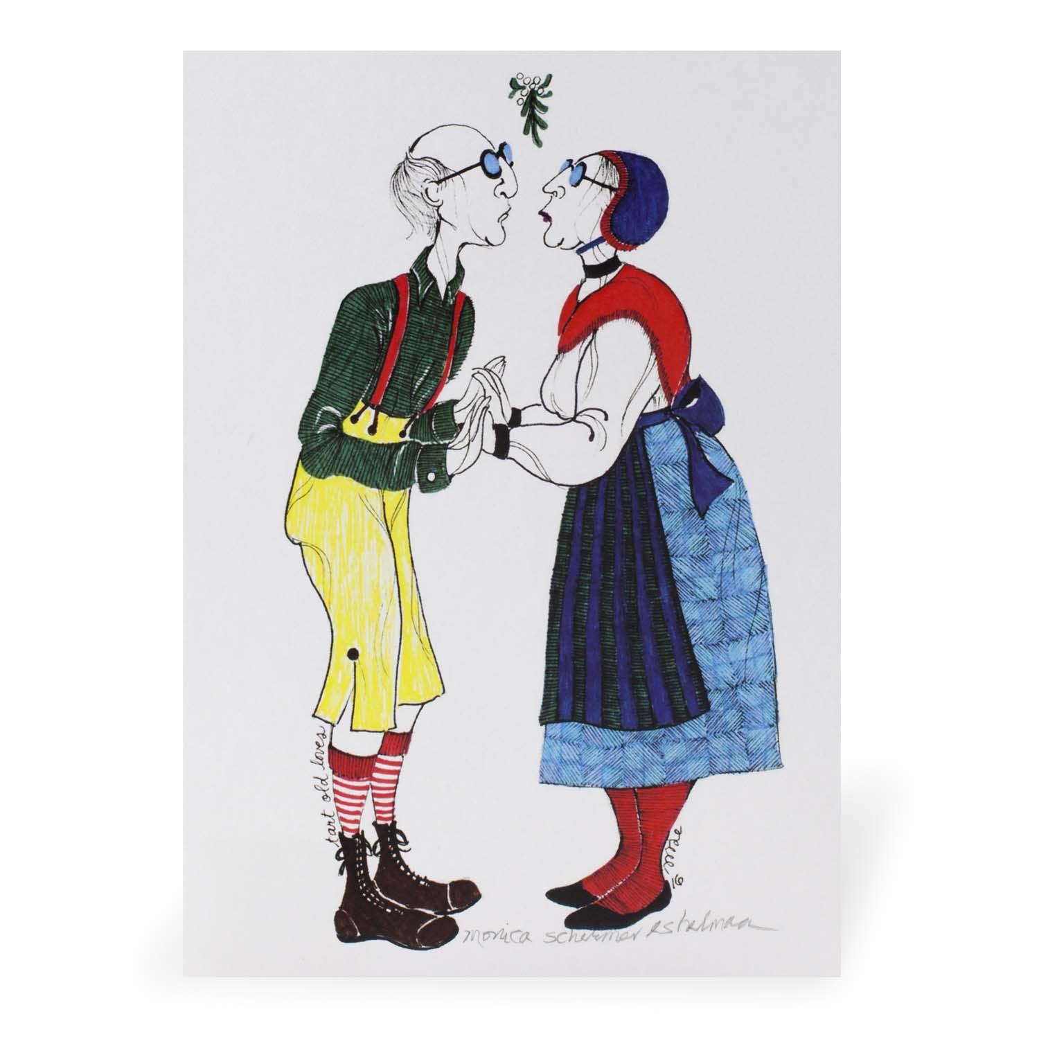 Tart Old Lovers Print: Unmatted