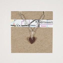 Heart Necklace Center Loop