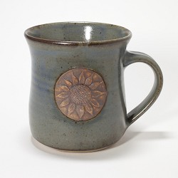 Kansas Long Petal Sunflower Mug Brown/Green
