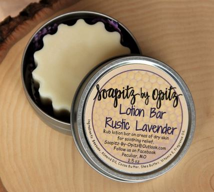 Rustic Lavender Lotion Bar