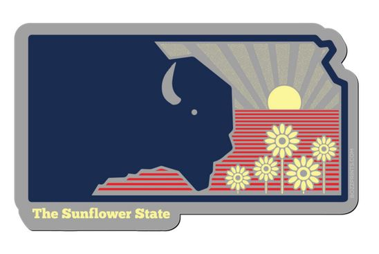 The Sunflower State Sticker,THE SUNFLOWER STATE
