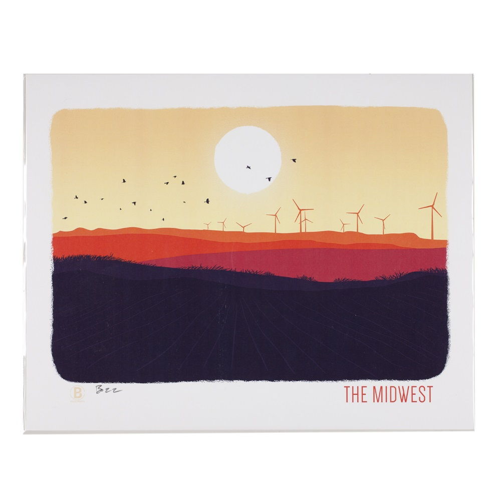 The Midwest Print,THE MIDWEST 8X10
