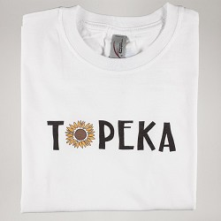 Topeka Sunflower T-Shirt White Y - Small