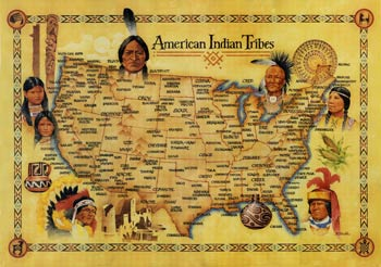 Map: American Indian Tribes,278