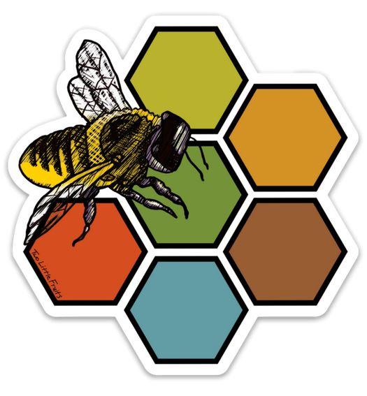 1890 Bees Sticker,11691920