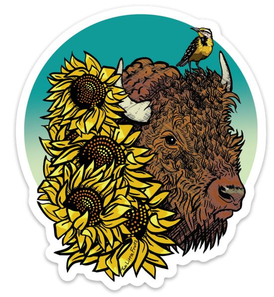 Kansas Bison Sticker,14851920