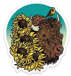 Kansas Bison Sticker