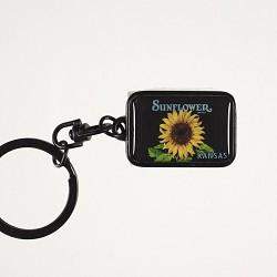 Sunflower Metal Keychain