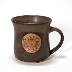 Kansas Long Petal Sunflower Mug Brown