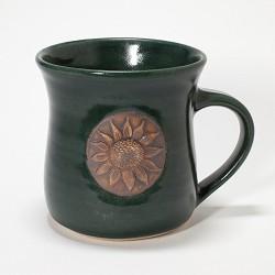 Kansas Long Petal Sunflower Mug Green