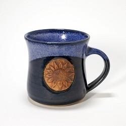 Kansas Long Petal Sunflower Mug Blue