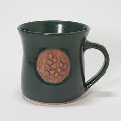 Kansas Wheat Stalk Mug Green