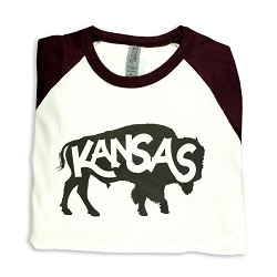 Kanas Buffalo 3/4 Sleeve Baseball T-Shirt A- X Large