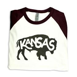 Kanas Buffalo 3/4 Sleeve Baseball T-Shirt A- 2 XL