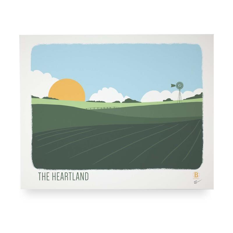 The Heartland Print,HEARTLAND 8X10