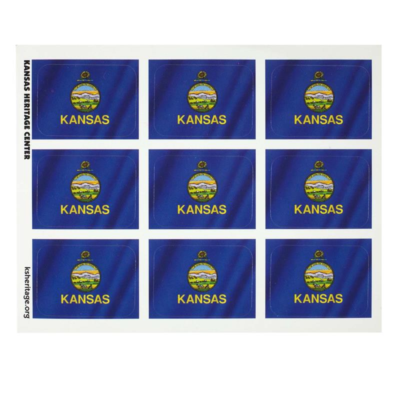 KS Flag Sticker SINGLE SHEET