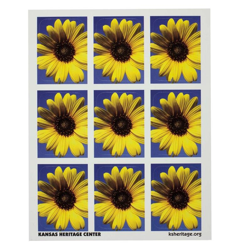 Sunflower sticker SINGLE SHEET