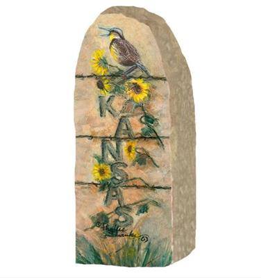 KS Meadowlark on Stone Post,287